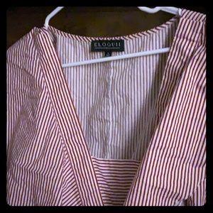 Pinstriped Dress
